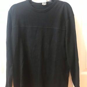Men's Black Cotton Long Sleeve